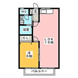 スカイコートA棟[2階]の間取り