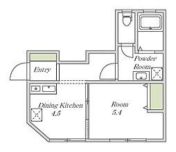 近鉄南大阪線 大阪阿部野橋駅 徒歩5分の賃貸アパート 1階1DKの間取り