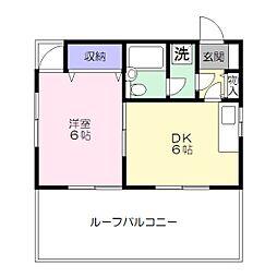 コーポヤナガワ[302号室]の間取り