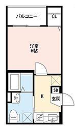大阪府大阪市平野区長吉川辺3丁目の賃貸アパートの間取り