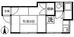 東京都板橋区上板橋2丁目の賃貸アパートの間取り