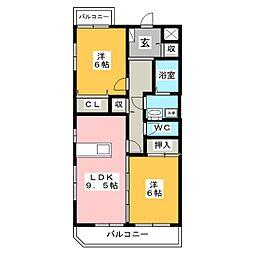 第2穂光ビル[3階]の間取り