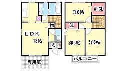 [テラスハウス] 兵庫県神戸市北区山田町下谷上字芝 の賃貸【/】の間取り