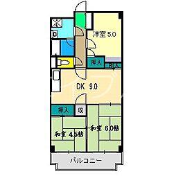 高須スカイハイツ[1階]の間取り