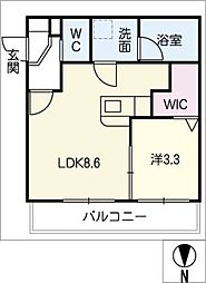 仮)幸心2丁目新築アパートB棟[2階]の間取り