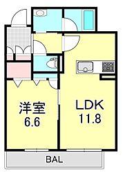 シャーメゾン 絆[2階]の間取り