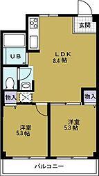 第3柴田ビル[4階]の間取り