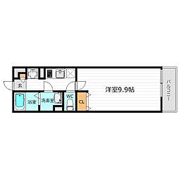 Osaka Metro中央線 緑橋駅 徒歩6分の賃貸マンション 1階1Kの間取り