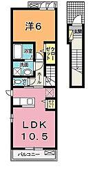 プライムタウンC[2階]の間取り