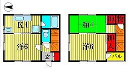 [テラスハウス] 千葉県柏市西町 の賃貸【/】の間取り
