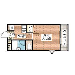 ハイツグルービー[2階]の間取り