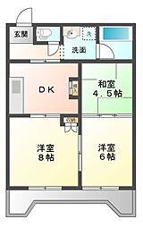 ロータリーパレス辰巳台[4階]の間取り