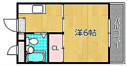 フロンティア長尾II[2階]の間取り