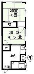 福寿荘 bt[101kk号室]の間取り