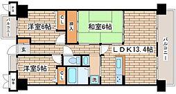 兵庫県神戸市須磨区清水台1丁目の賃貸マンションの間取り
