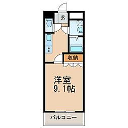 和歌山電鐵貴志川線 岡崎前駅 徒歩9分の賃貸アパート 1階1Kの間取り