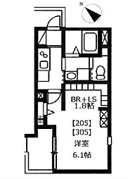 仮)グランキューブ戸田公園[2階]の間取り