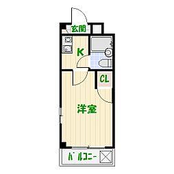 メゾン亀有[2階]の間取り