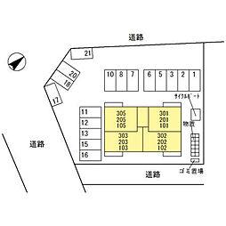 (仮)D-room四十万町[303号室]の外観