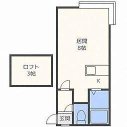 北海道札幌市清田区清田二条1丁目の賃貸アパートの間取り