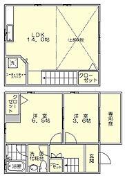 ノースフォレストK[1階]の間取り