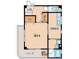 レスペート西庄5[2階]の間取り