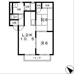 フレールメゾンD棟[2階]の間取り