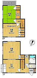 [一戸建] 神奈川県川崎市多摩区菅稲田堤3丁目 の賃貸【/】の間取り