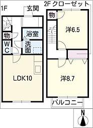 [タウンハウス] 愛知県豊田市浄水町原山 の賃貸【/】の間取り