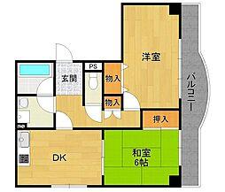 UTマンション伊丹 201号室[201号室]の間取り