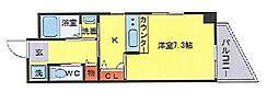 マンションクォーレ 2階1DKの間取り