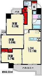 コンダクトレジデンス那珂川[8階]の間取り