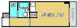 品川大井町スカイレジデル[4階]の間取り