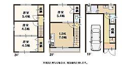 西淀川区花川2丁目 中古一戸建住宅 4DKの間取り