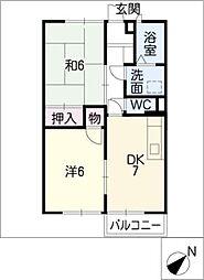 メゾンロイヤルB棟[1階]の間取り