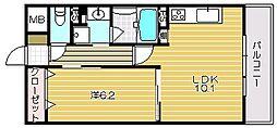 大阪府茨木市上泉町の賃貸マンションの間取り
