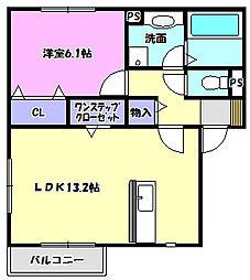 グランメゾン松ヶ丘A[205号室]の間取り