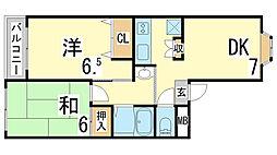 兵庫県神戸市長田区細田町3丁目の賃貸マンションの間取り