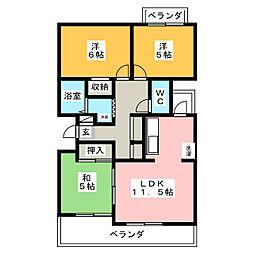 コートハウス30[1階]の間取り