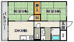 アパルトマン松栄[2階]の間取り