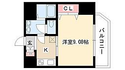 愛知県名古屋市瑞穂区牛巻町5丁目の賃貸マンションの間取り