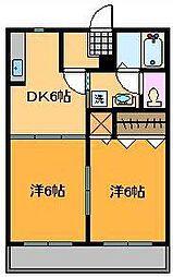 メゾン・クレール B棟[2階]の間取り