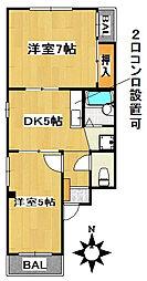 愛知県名古屋市千種区東山通4丁目の賃貸マンションの間取り