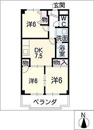 エステート鈴木[4階]の間取り