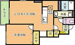 ミニヨン B棟[1階]の間取り