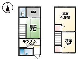 [テラスハウス] 兵庫県姫路市亀山 の賃貸【/】の間取り