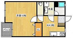 コーポワンセルフ[1階]の間取り