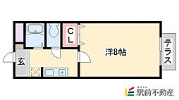 メゾンフルールC棟[104号室]の間取り