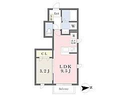 横浜市営地下鉄ブルーライン 立場駅 徒歩5分の賃貸アパート 1階1LDKの間取り