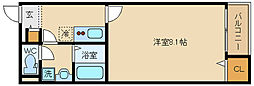 大阪府八尾市植松町5丁目の賃貸アパートの間取り